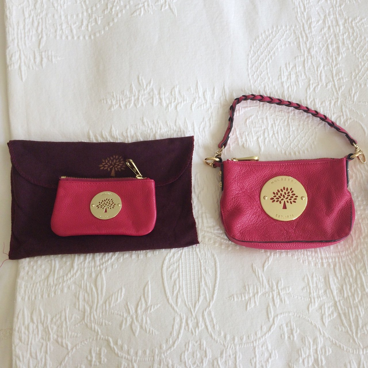 Mulberry Bag   matching purse in a raspberry pink colour. - Depop d7253f056dc15