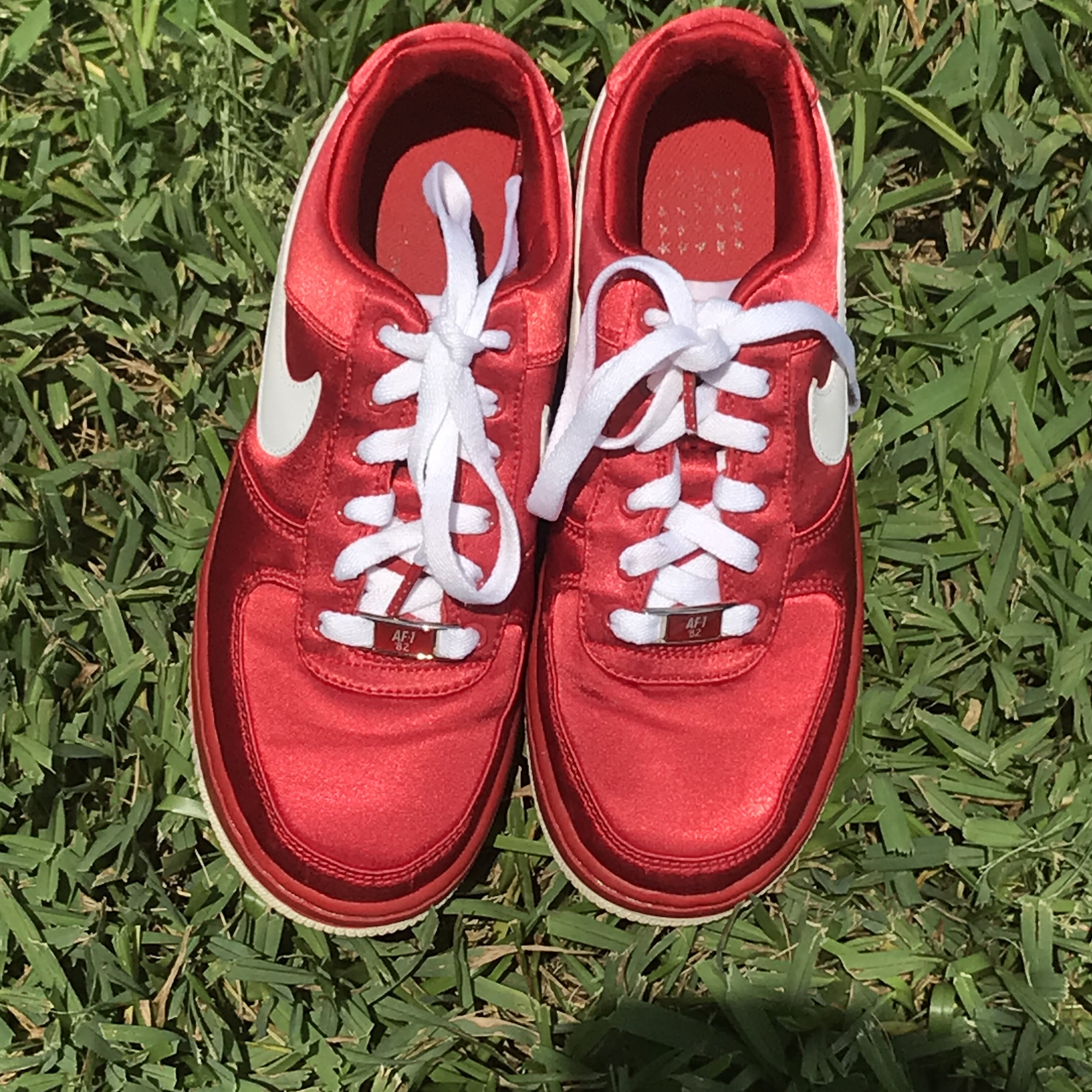Nike Air Force XXV Satin Red Shoes