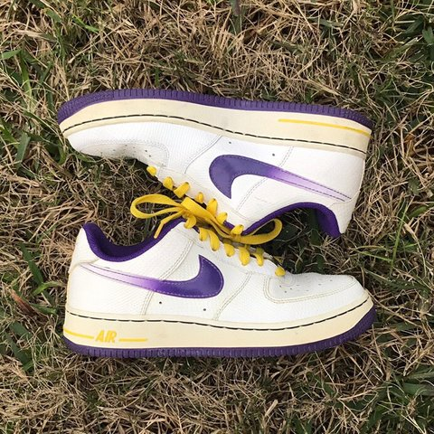 newest 27e07 9f5af @theorize. 3 months ago. Houston, United States. Nike Air Force 1 White  Court Purple Tour Yellow 🔮