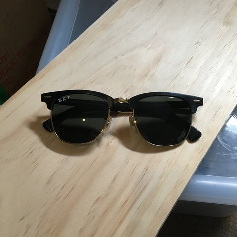 9b7a348e2 Ray Ban P Clubmaster - black. Polarised, aluminium frame the - Depop