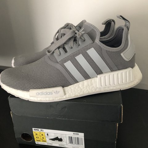 ADIDAS NMD R1 CHARCOAL GREY SIZE  8 UK CONDITION  GOOD WITH - Depop 3524216b5