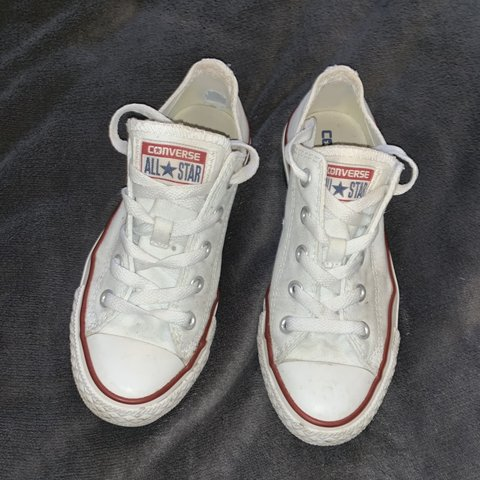 149057c818abe4 Converse all star white cream trainers size 3.5 but fit me - Depop