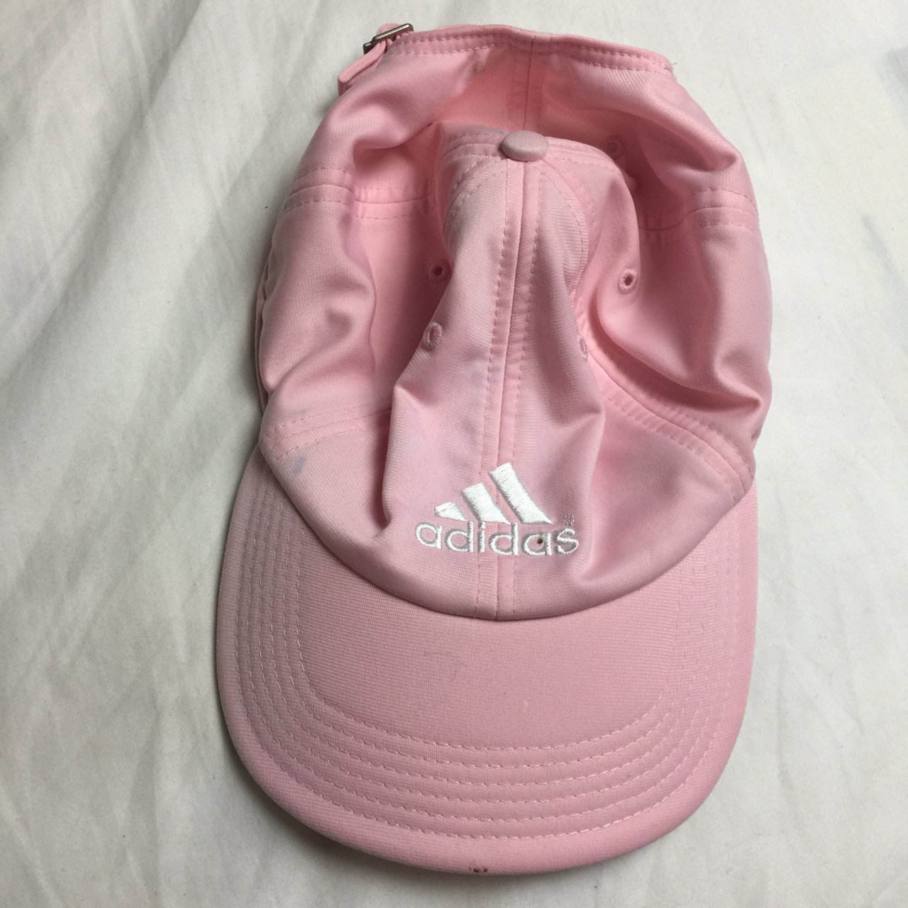 37f621973ad07 🌸 Baby Pink Adidas Dad Hat Baseball Cap 7 10 Condition on - Depop
