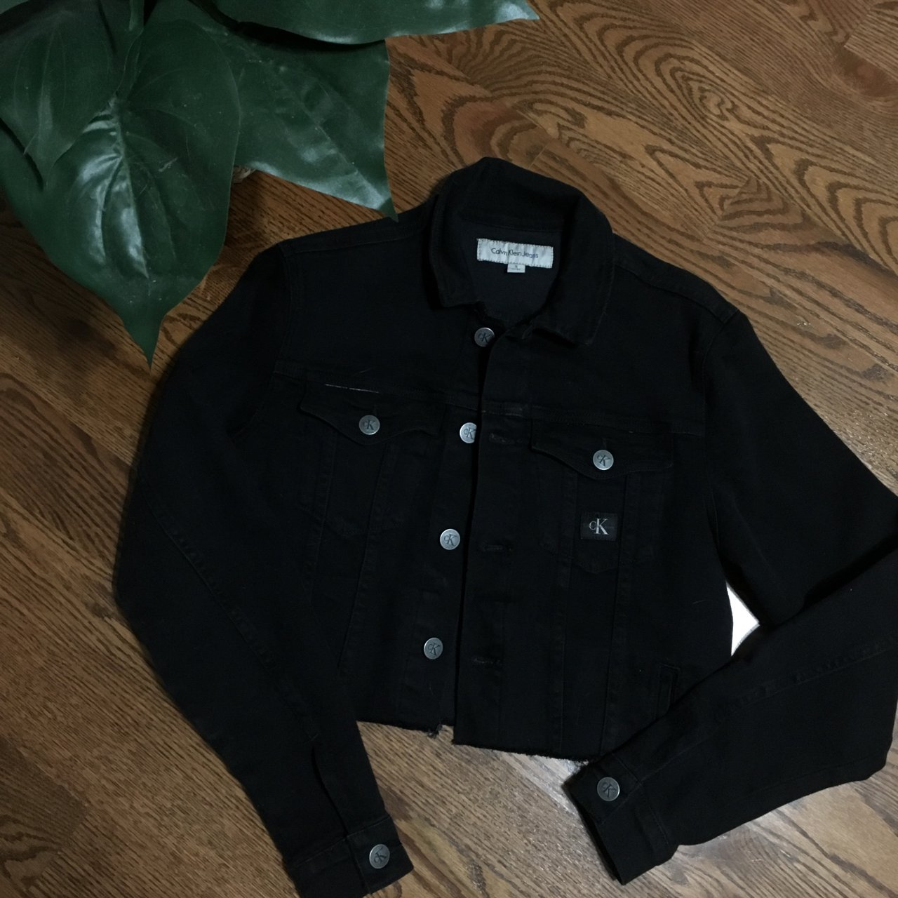 340e849a09d8d3 I thrifted this perfect condition Calvin Klein denim jacket - Depop