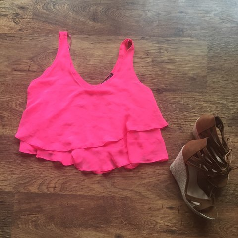 5c9ca1460e9e2 Brand new unworn hot pink crop top...Taken on holiday but in - Depop