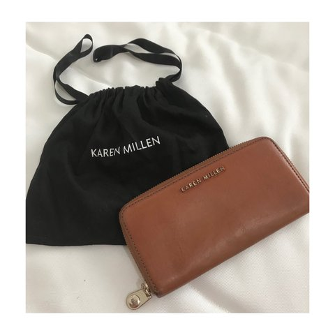 4c8124fbdc3 @danialanisx. 2 years ago. Birmingham, UK. Karen Millen brown genuine  leather purse. Owned for a couple ...