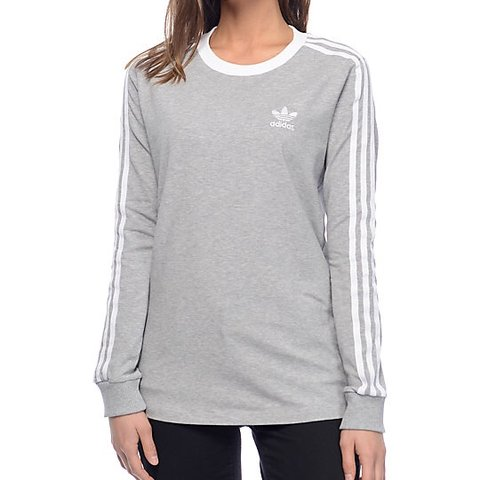 041607e950 @lf330. 9 months ago. Rathcoole, Ireland. Adidas 3 Stripe long-sleeve grey  tee ...