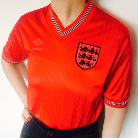 fca9672cc Vintage 90s England Football Shirt ⚽   Retro Umbro x shirt - Depop