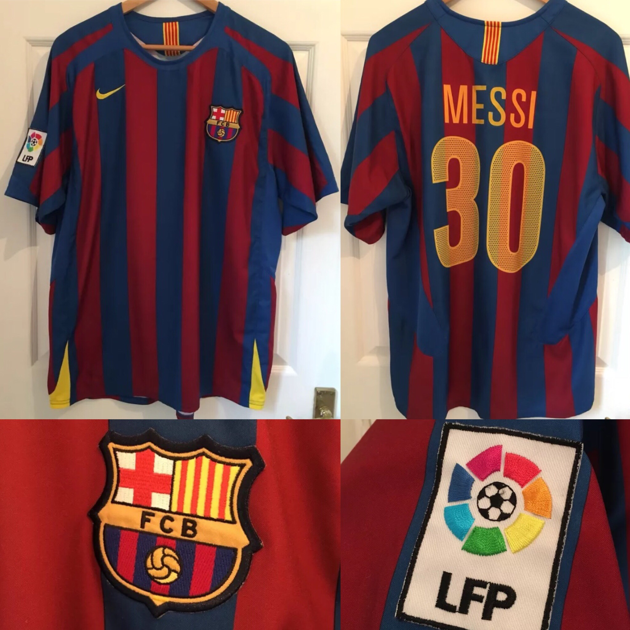 designer fashion 6b65b 365d3 MESSI #30 Barcelona Nike Home Football Shirt Jersey ...
