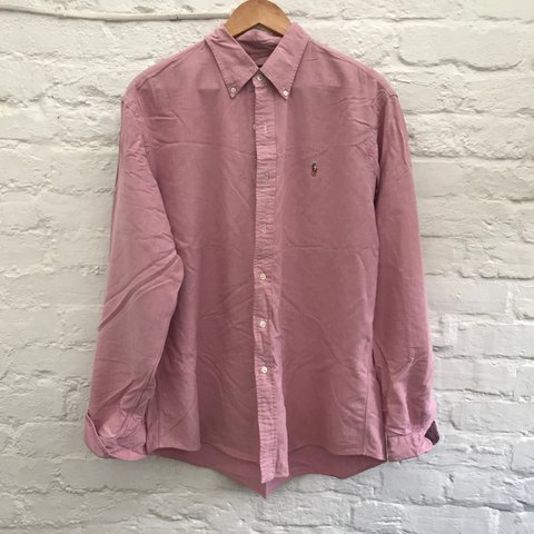 ba90699a @jgreenhillsadler21. 2 years ago. Christchurch, United Kingdom. Vintage Polo  Ralph Lauren oxford shirt in Pink/Salmon.