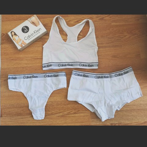 9a2f3d704f White Underwear Set in UK Size Small. Contains Bra Top
