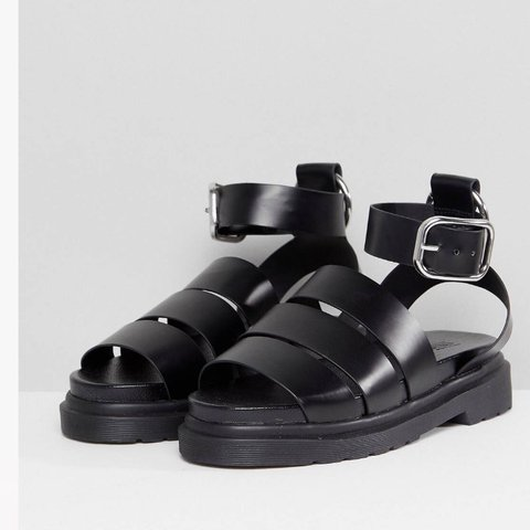 Asos Black chunky sandals size 5 (sold