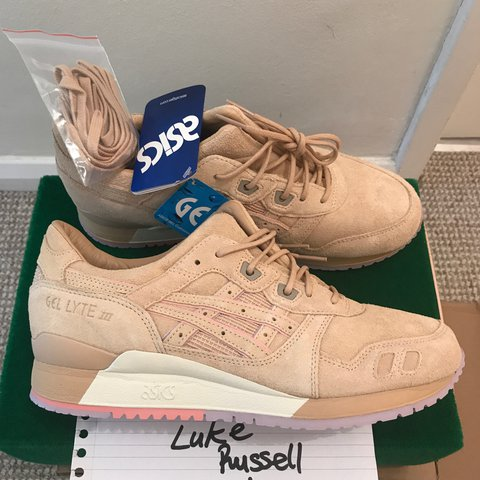 b336ecb80e5a Asics gel lyte iii clot sand with special box brand new worn - Depop
