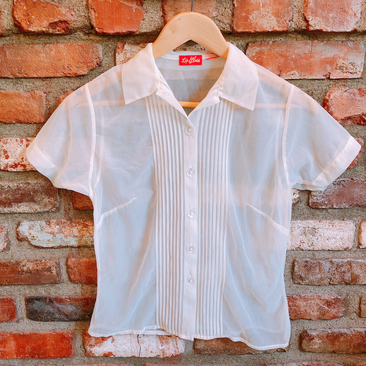90s See Through Collar Shirt Used Condition Size Xss Depop