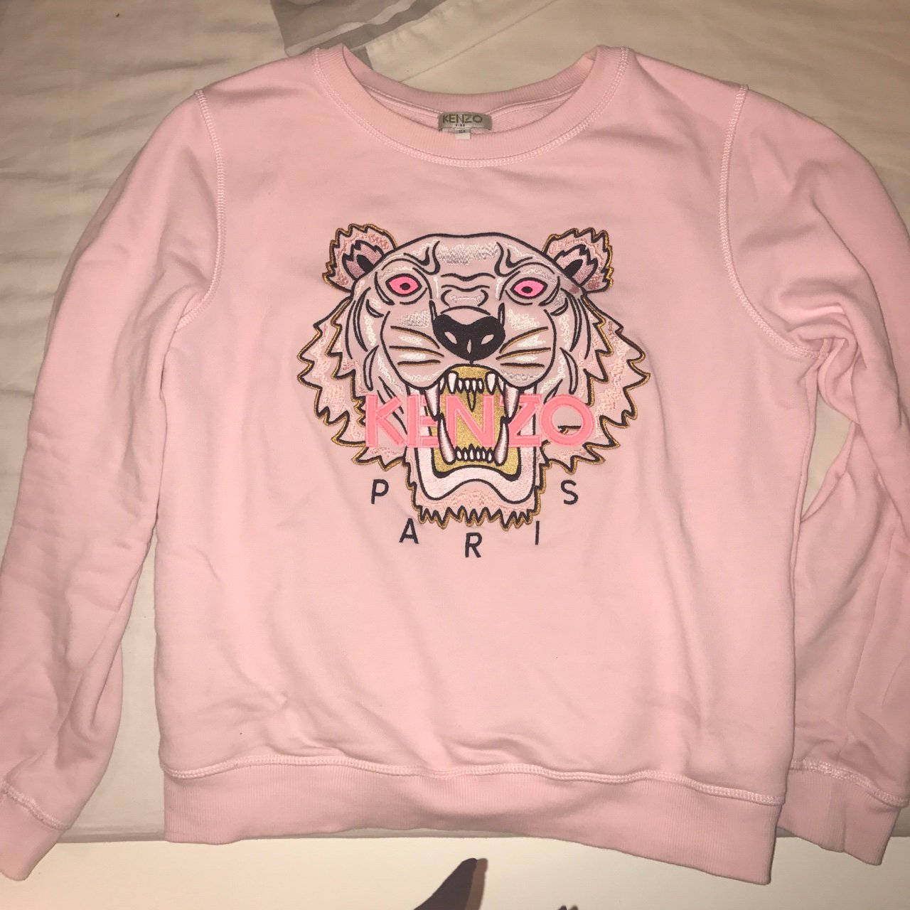 worn once pink kenzo jumper age 16  7986f3512