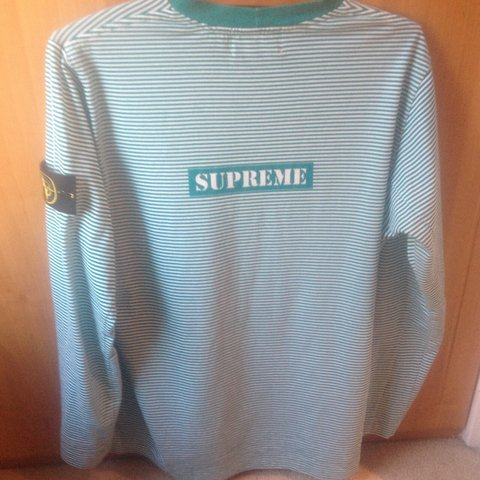 4c78a9e245 @halcrampin. 4 years ago. London, UK. Stone island x supreme teal long  sleeve ...