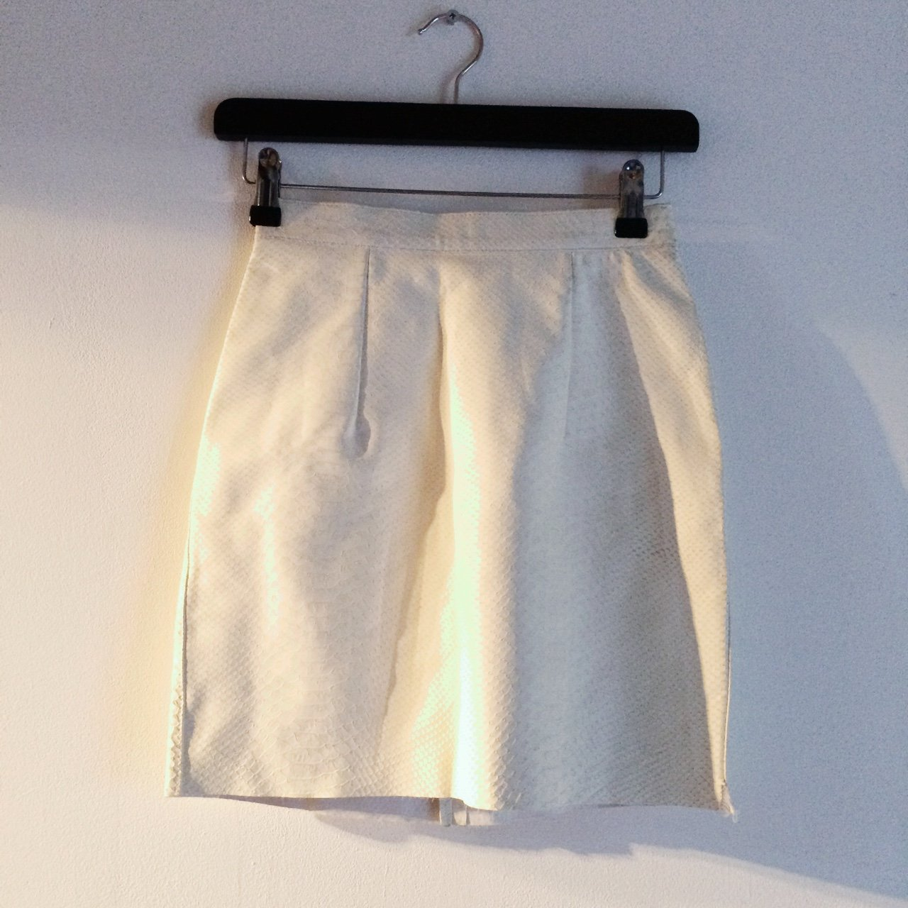 06ff13d257 @hardstyle. 3 years ago. London, UK. American Apparel white snake skin  leather skirt. Genuine leather. Size XS ...