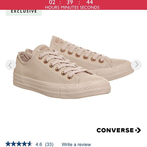 3d0129bf0af Dusk pink   nude   rose gold leather converse! Only worn a - Depop