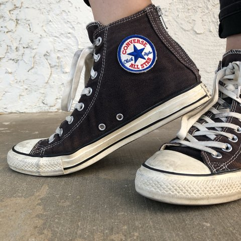 327ced7430 old school retro converse check taylor all star high tops in - Depop