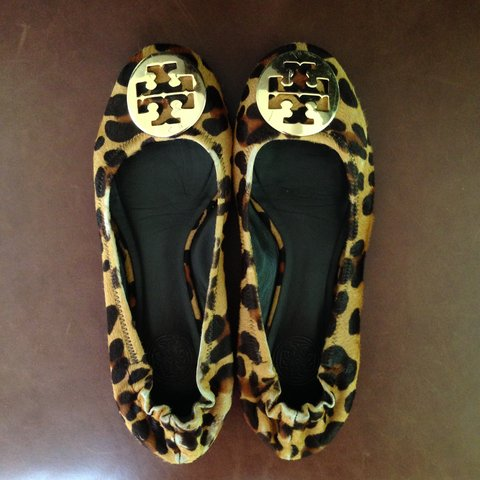 fec4d377ffc7 Tory burch ponyhair leopard print flats. Does have some wear - Depop