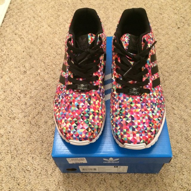 a0d09d0f4 Adidas ZX Flux Prism Multicoloured.  LIMITED EDITION  These - Depop