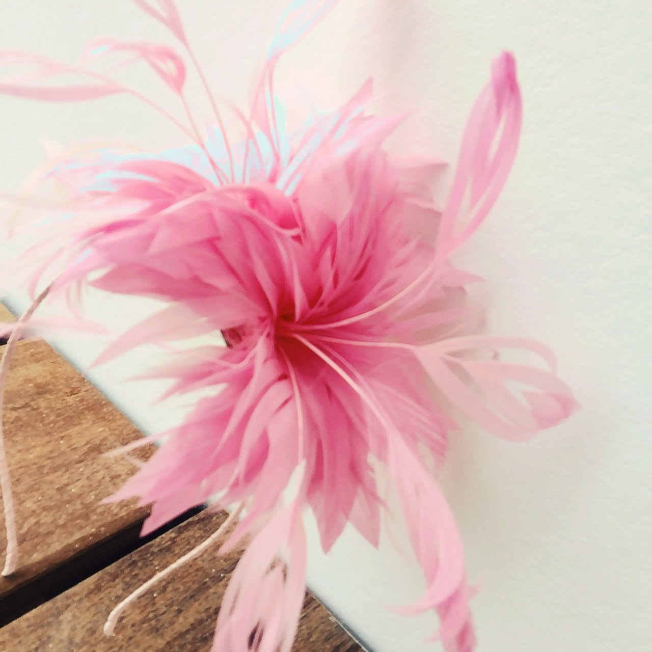 Wedding fascinator. Bubblegum pink floral by Emma B. £9 + - Depop 4741fe7e9e4