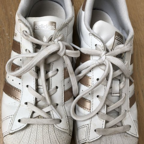 adidas superstar rose gold trainers