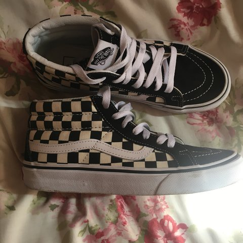 b82a553184 VANS mid-high shoes. Size 4.5 (fits size5). Worn a handful - Depop