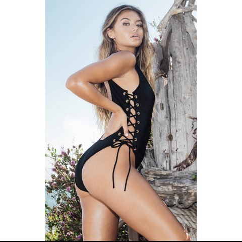 e995c736690 @charleymcgrath. 3 months ago. Glasgow, UK. CLIO BLACK TIE SIDE PLUNGE  SWIMSUIT Never been worn new with tags so ...