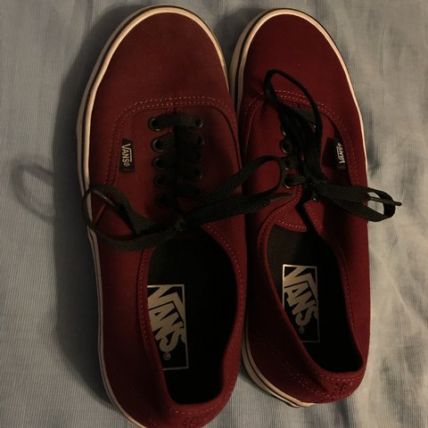 Vans Authentic maroon   burgundy color with black laces. not - Depop adf2ffead