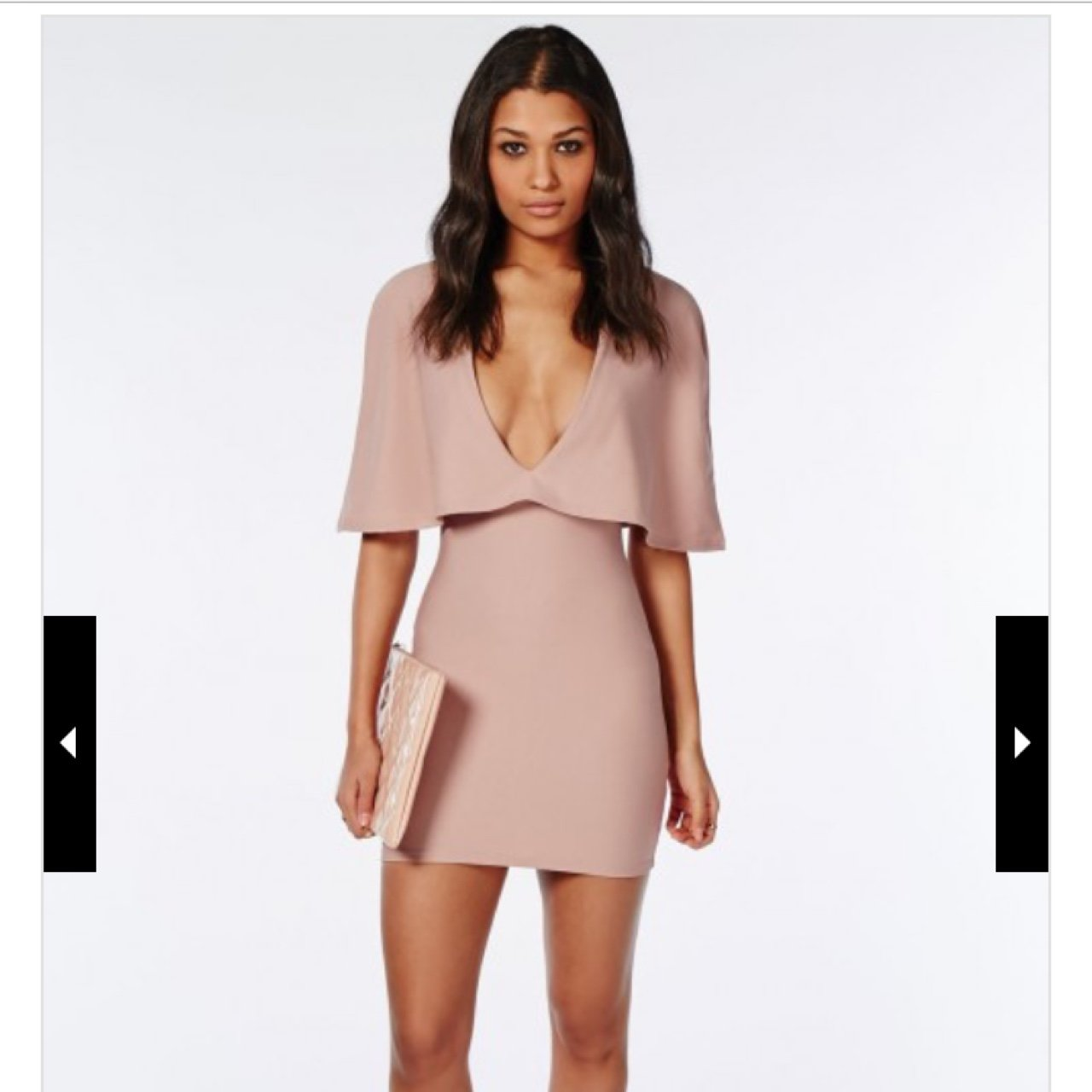 cf4845df04 Gorgeous missguided plunging bandage dress.