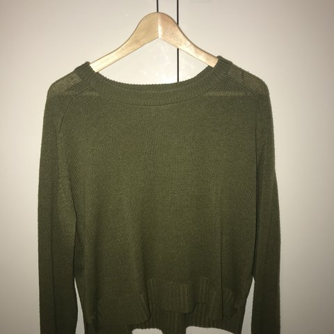 b23ad3a6562 @pollyvg7. last year. Bolton, United Kingdom. Olive green jumper from h&m,  slightly cropped. Sweatshirt ...