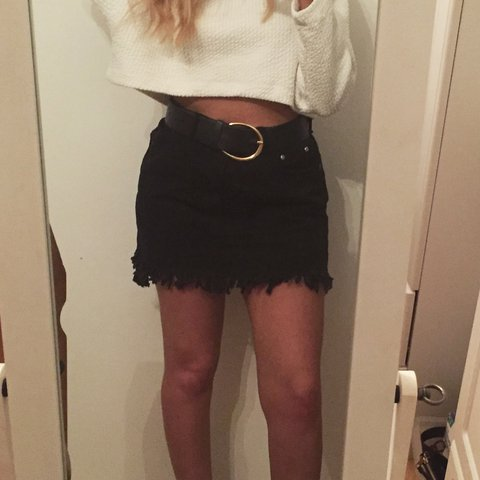3bc1f8810d @oliviacadman. 2 years ago. Derby DE24, UK. Boohoo mini denim skirt, frayed  edges size 10 ...