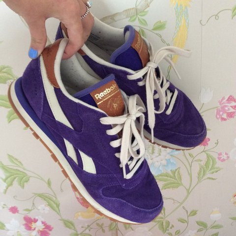 SOLD OUT RARE Reebok Classic leather Purple   Gum. Worn a of - Depop b262e69d1