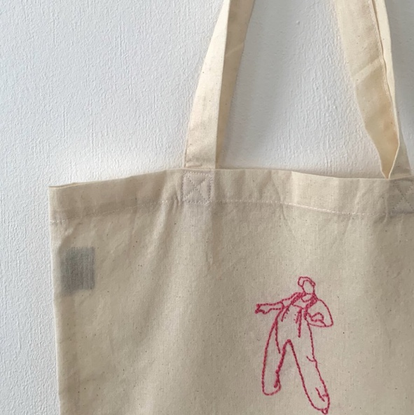 Harry Styles Hand Embroidered Tote Bags