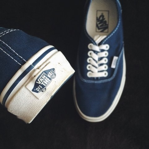 5f12d6040f Vans authentic shoes in navy. Sizing is a bit confusing as 7 - Depop
