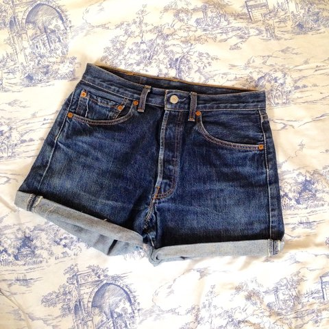 2152fd59 @missmarie6. 4 years ago. Manchester, UK. Vintage reworked Levis 501 high  waisted denim shorts. Dark ...
