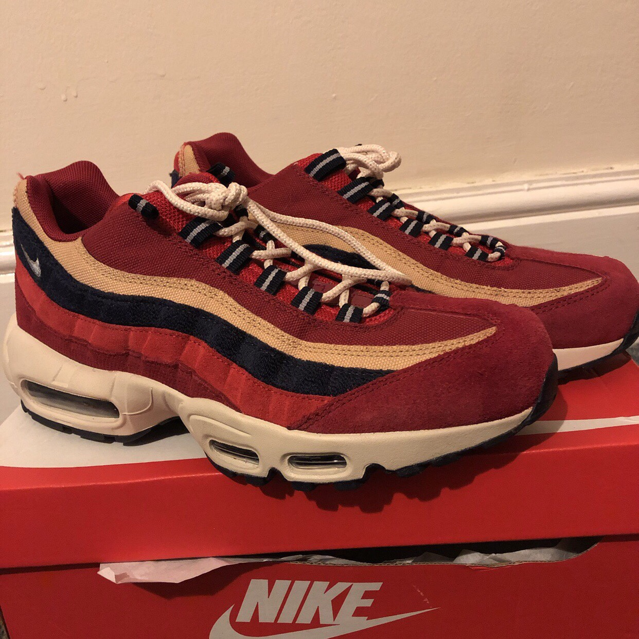 Nike air max 95 red crush limited edition Worn 2 3 Depop