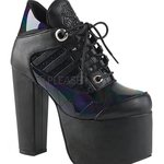 738a248a6b81 Demonia Rave Royalty Platform Purple Holographic Boots once