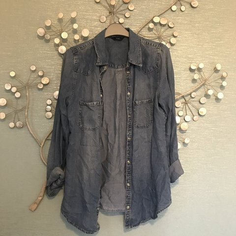 8d46956474b51 F&F Florence and Fred denim shirt from Tesco. Perfect for an - Depop
