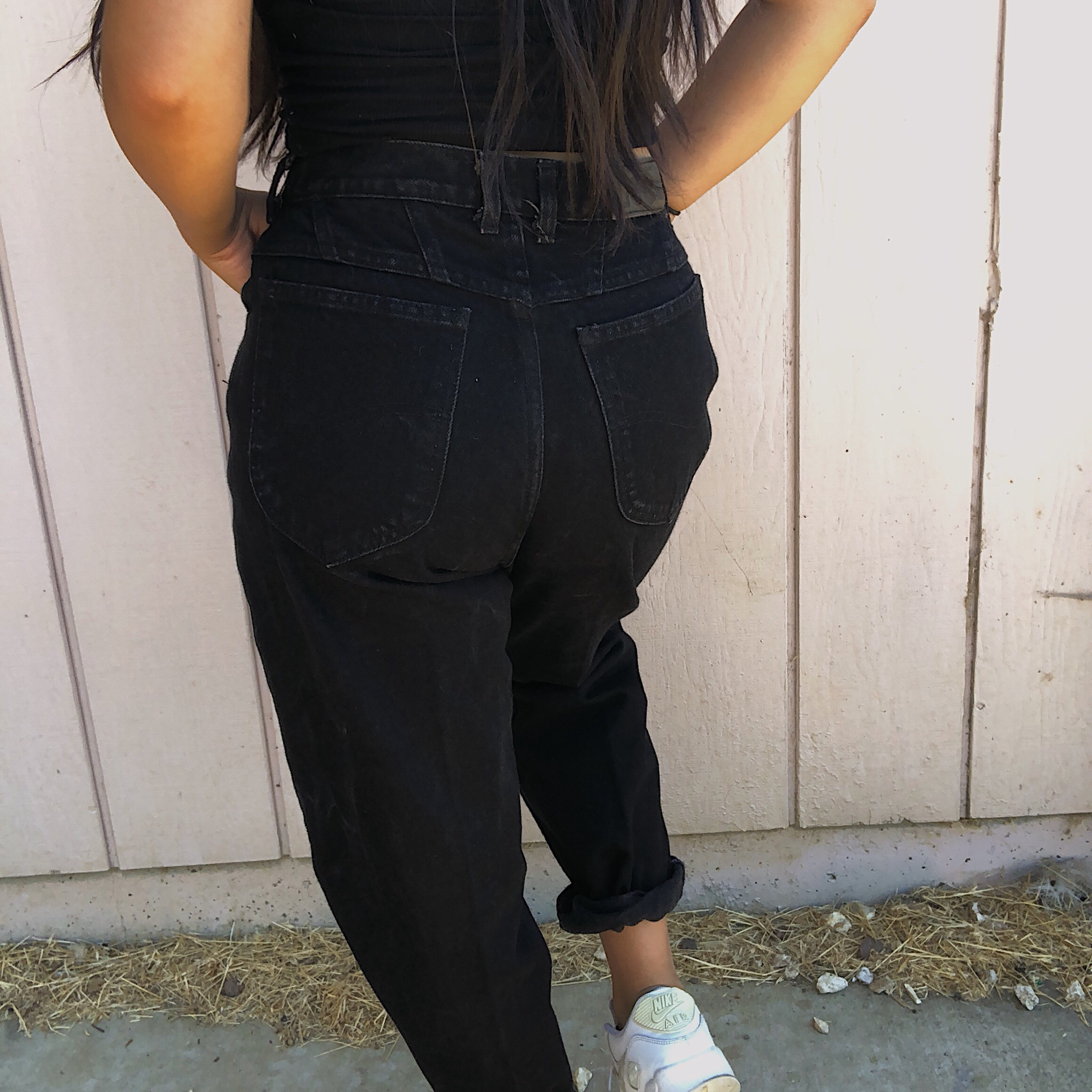 HIGH WAISTED BLACK MOM JEANS These high waisted Mom , Depop