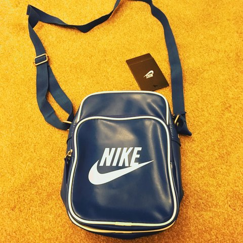 a86a06e498 Brand new men s Nike side bag. Blue. No marks and very From - Depop