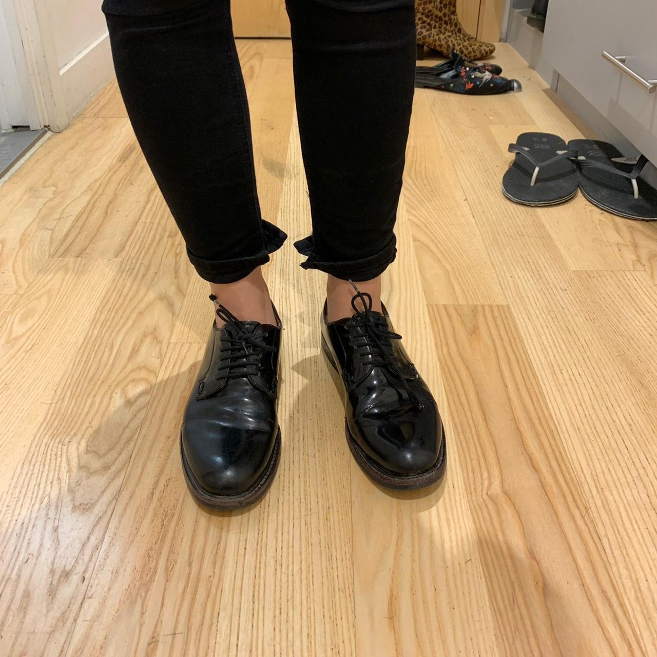 Shannon black patent loafers shoes