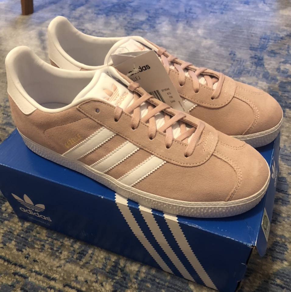 Adidas Gazelle trainers, baby / pink white...