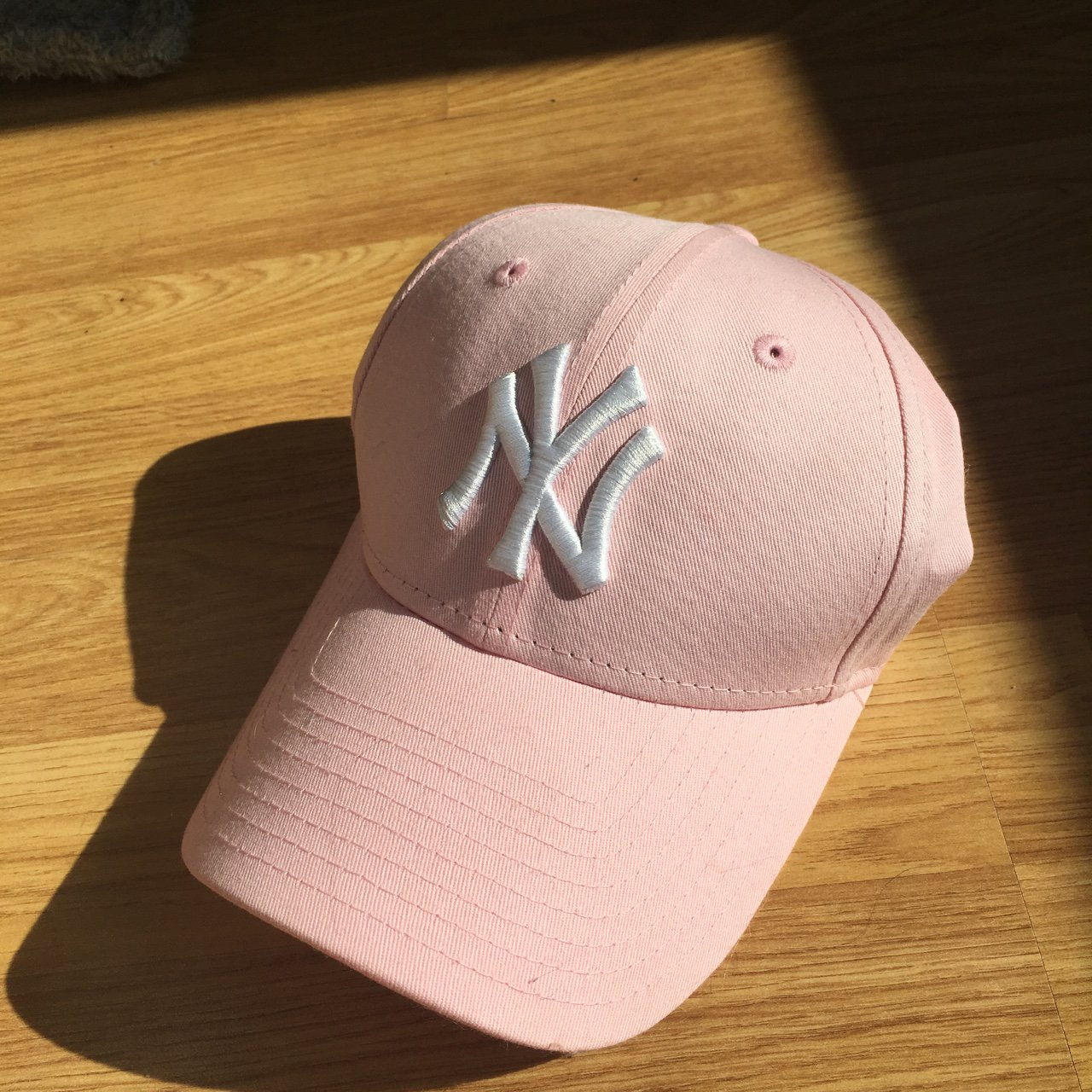 NEW ERA 9 forty cap in blush pink - worn out once. In good - Depop a93693ffa21