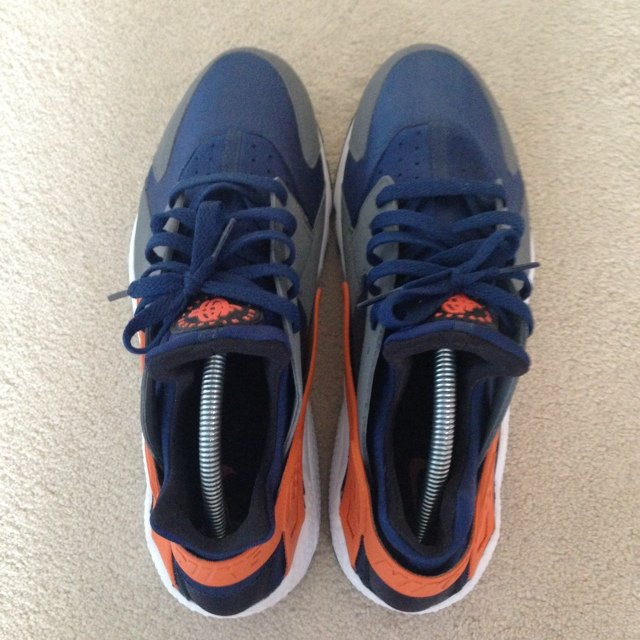 a88286fe6be27 ... italy nike air huarache brave blue urban orange cool grey uk10 a depop  c89b1 8653e