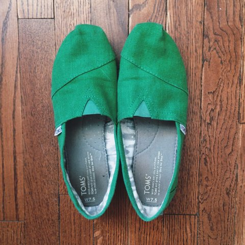 52882abbb09 Emerald green Toms shoes