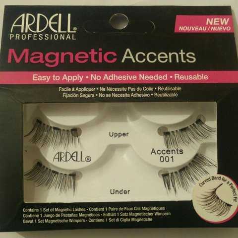 dfc9cce21cf Ardell Magnetic Accent Eyelashes 001. Tried to put them on - Depop