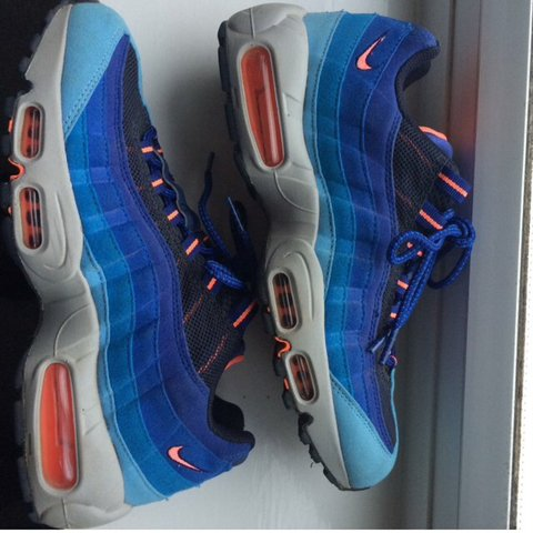 4716b231e4 ... coupon code for nike air max 95 university blue bright mango. literally  worn depop 55aad