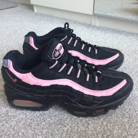 325134deab @gauds. 3 years ago. Croxley Green, Hertfordshire, UK. Nike air max 95 pink  and black unisex Size 7. Perfect condition not ...
